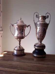 London League Trophies - LL Div One trophy (Left) & LL Referee's Cup trophy (Right)..