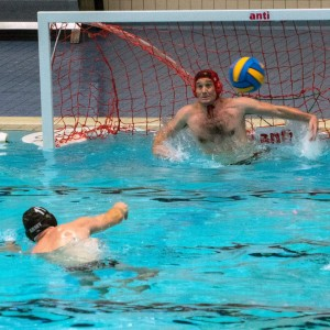 Saxons Goalie Chris Jones saves another penalty this time v Sheffield Dolphins - BWPL 2018