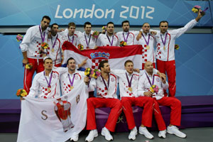 London 2012 Olympic Water Polo Champions Croatia...